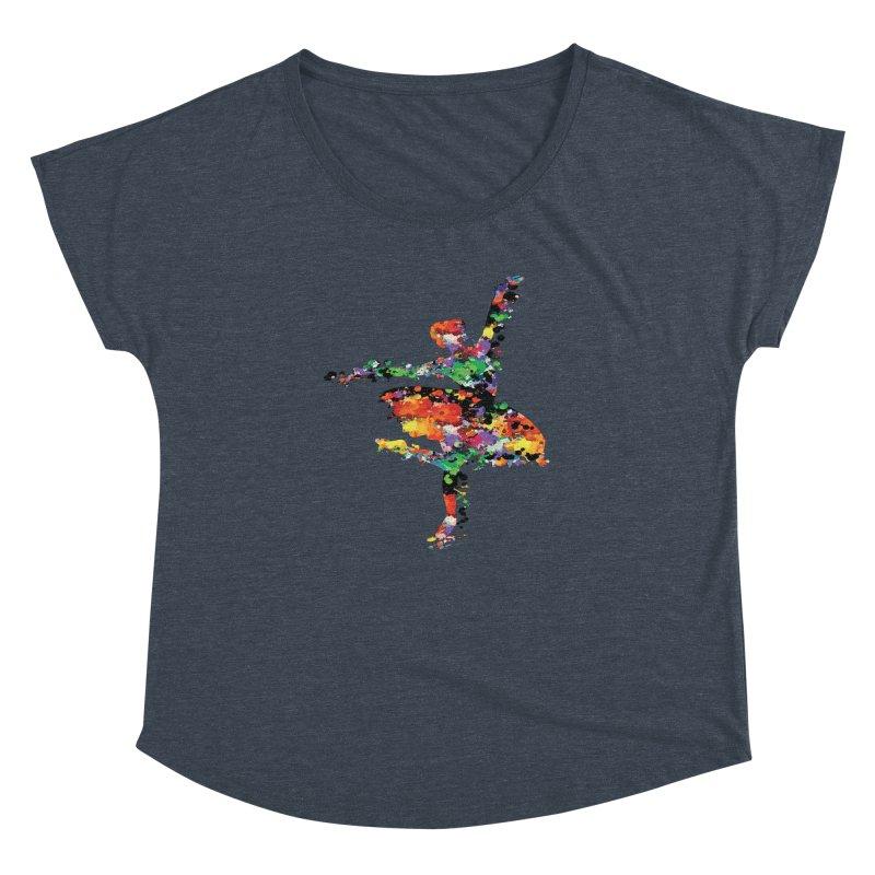 splash ballerina Women's Dolman Scoop Neck by cindyshim's Artist Shop