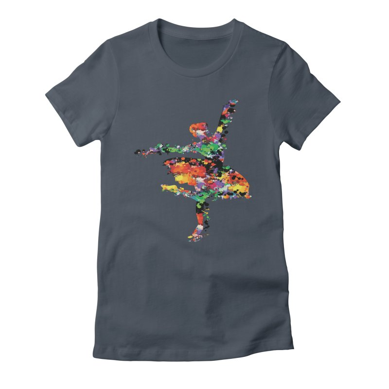 splash ballerina Women's Fitted T-Shirt by cindyshim's Artist Shop