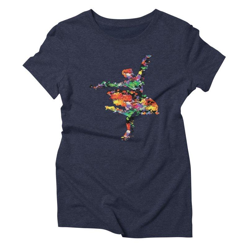 splash ballerina Women's Triblend T-Shirt by cindyshim's Artist Shop