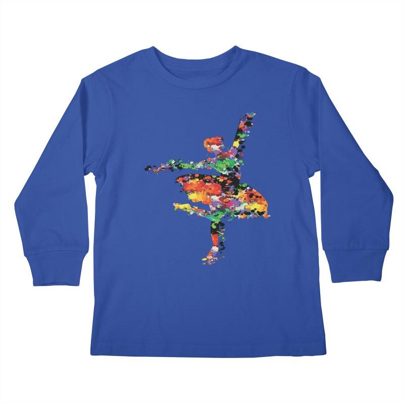 splash ballerina Kids Longsleeve T-Shirt by cindyshim's Artist Shop