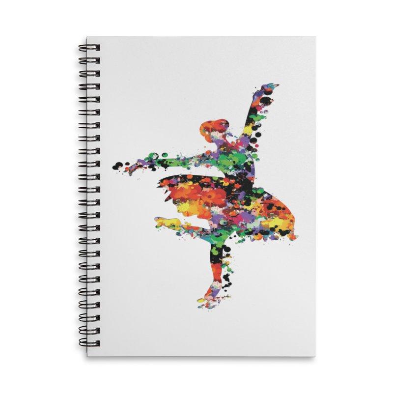 splash ballerina Accessories Notebook by cindyshim's Artist Shop