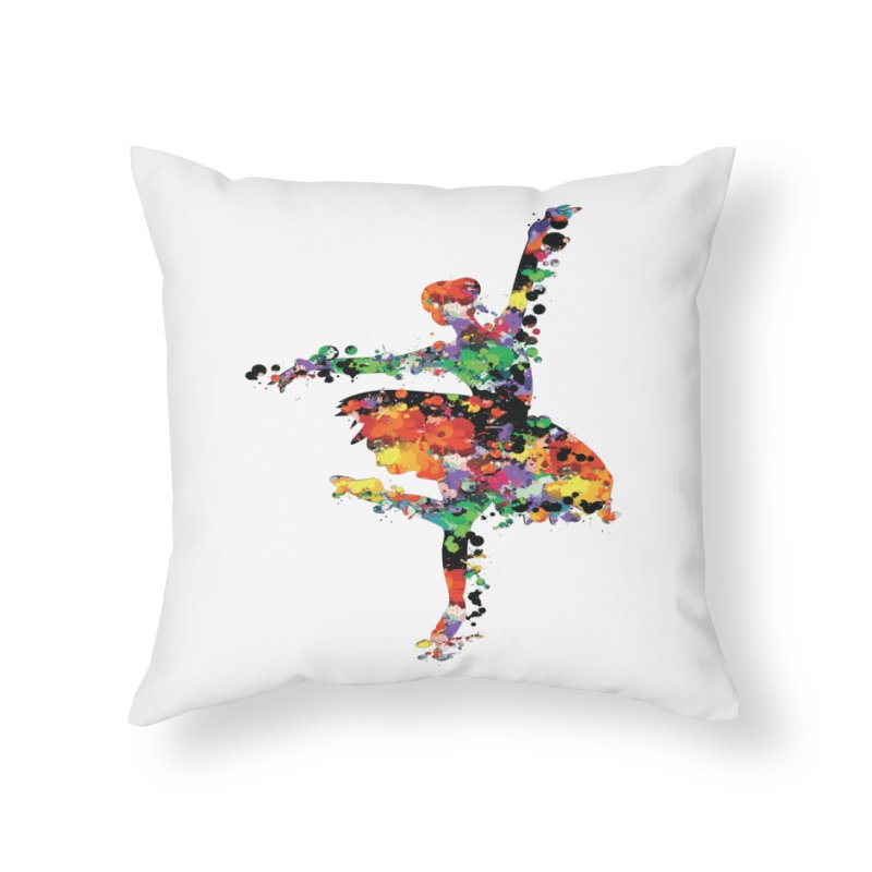 splash ballerina Home Throw Pillow by cindyshim's Artist Shop