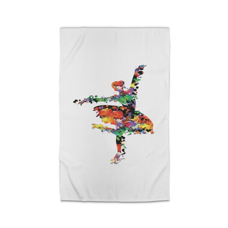 splash ballerina Home Rug by cindyshim's Artist Shop