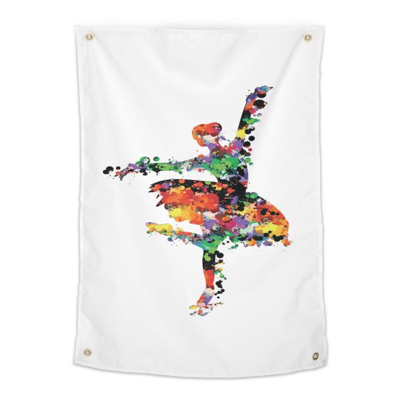 splash ballerina Home Tapestry by cindyshim's Artist Shop