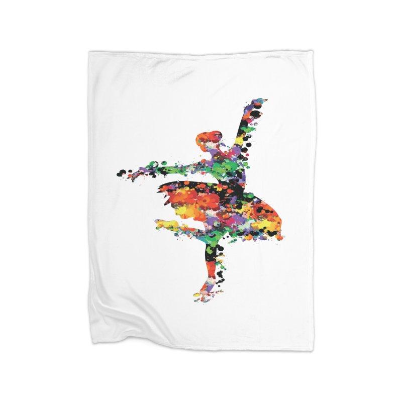 splash ballerina Home Blanket by cindyshim's Artist Shop