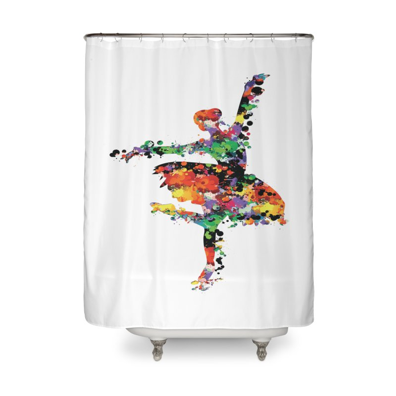 splash ballerina Home Shower Curtain by cindyshim's Artist Shop