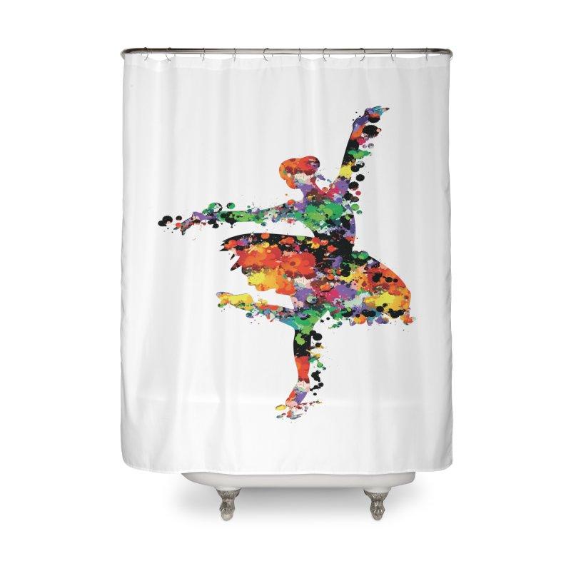 splash ballerina Home Shower Curtain by cindyshim's Artist Shop