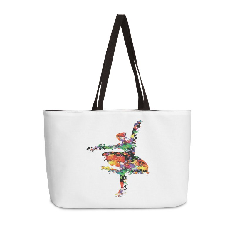 splash ballerina Accessories Bag by cindyshim's Artist Shop