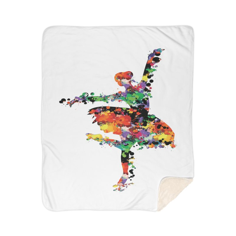 splash ballerina Home Sherpa Blanket Blanket by cindyshim's Artist Shop