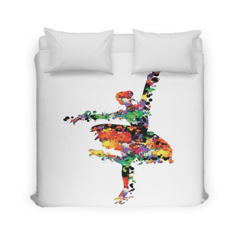 splash ballerina Home Duvet by cindyshim's Artist Shop