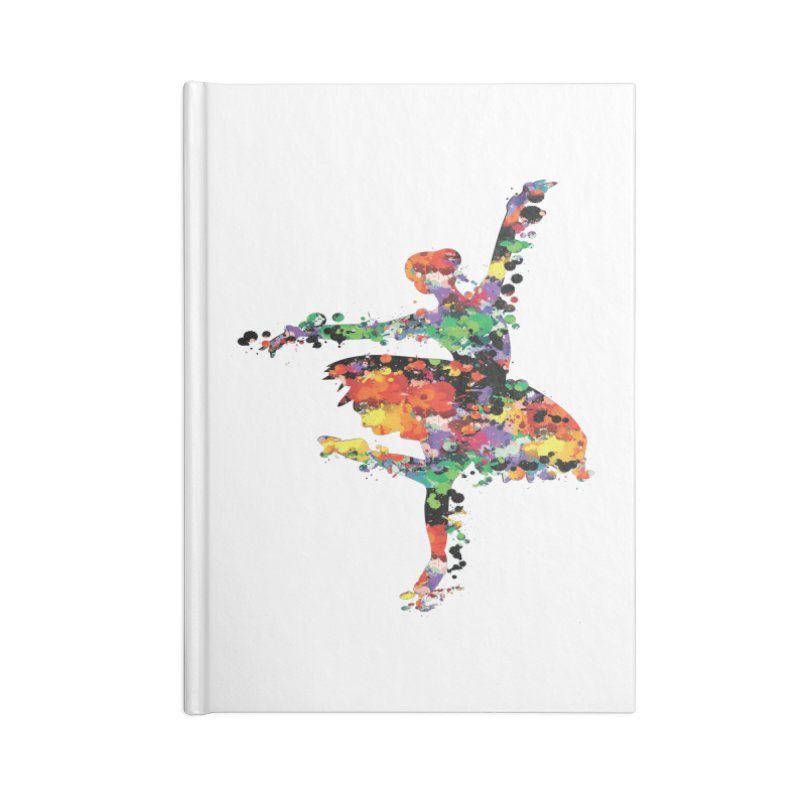 splash ballerina Accessories Lined Journal Notebook by cindyshim's Artist Shop