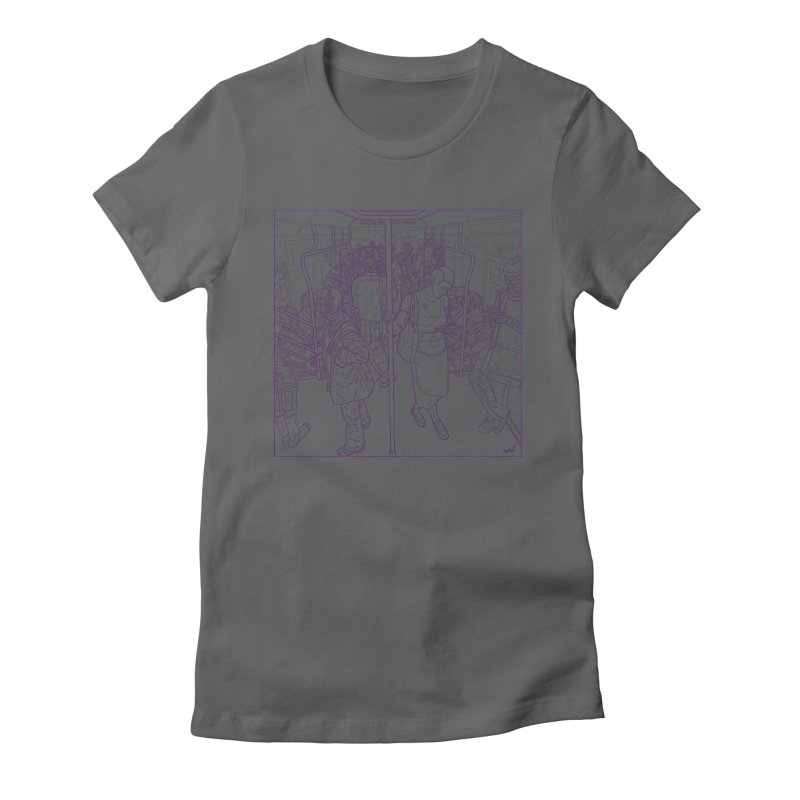 robot slaves Women's Fitted T-Shirt by shinobiskater's Artist Shop