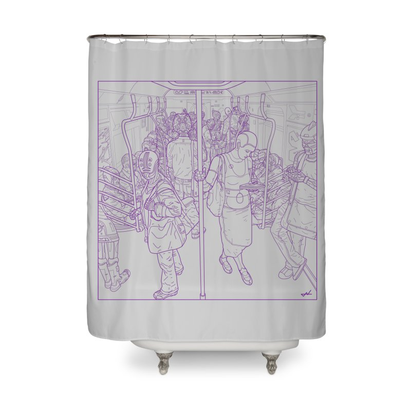 robot slaves Home Shower Curtain by shinobiskater's Artist Shop