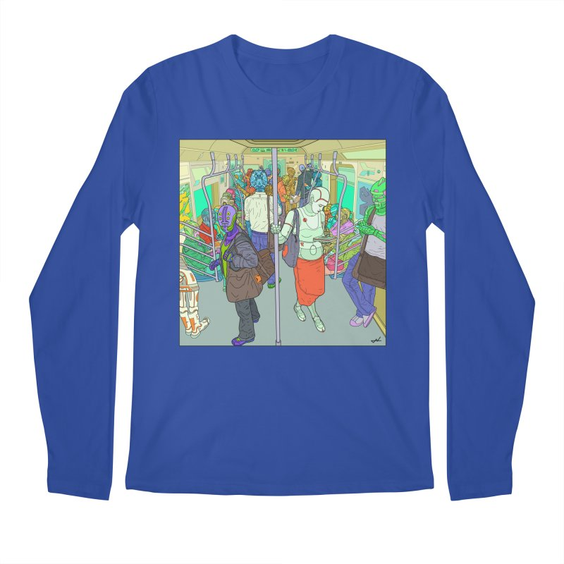 robot slaves in full color Men's Longsleeve T-Shirt by shinobiskater's Artist Shop