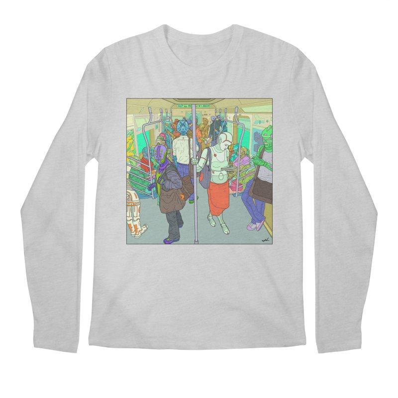 robot slaves in full color Men's Longsleeve T-Shirt by shinobiskater's Artist Shop