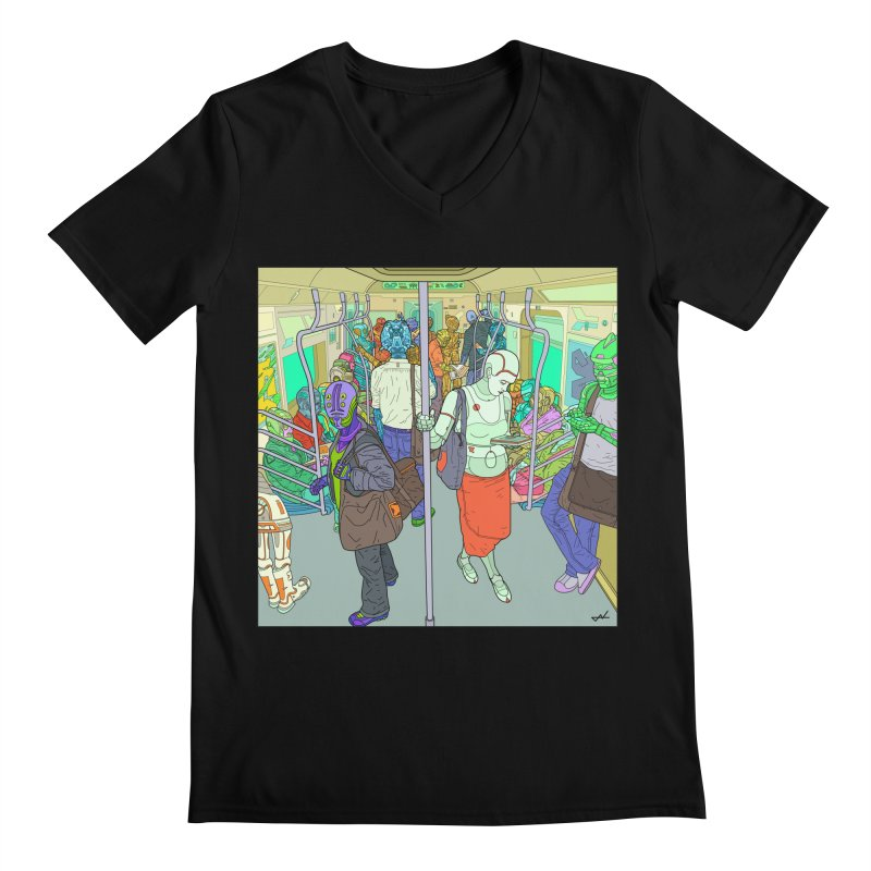 robot slaves in full color Men's V-Neck by shinobiskater's Artist Shop