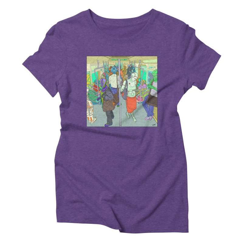 robot slaves in full color Women's Triblend T-Shirt by shinobiskater's Artist Shop