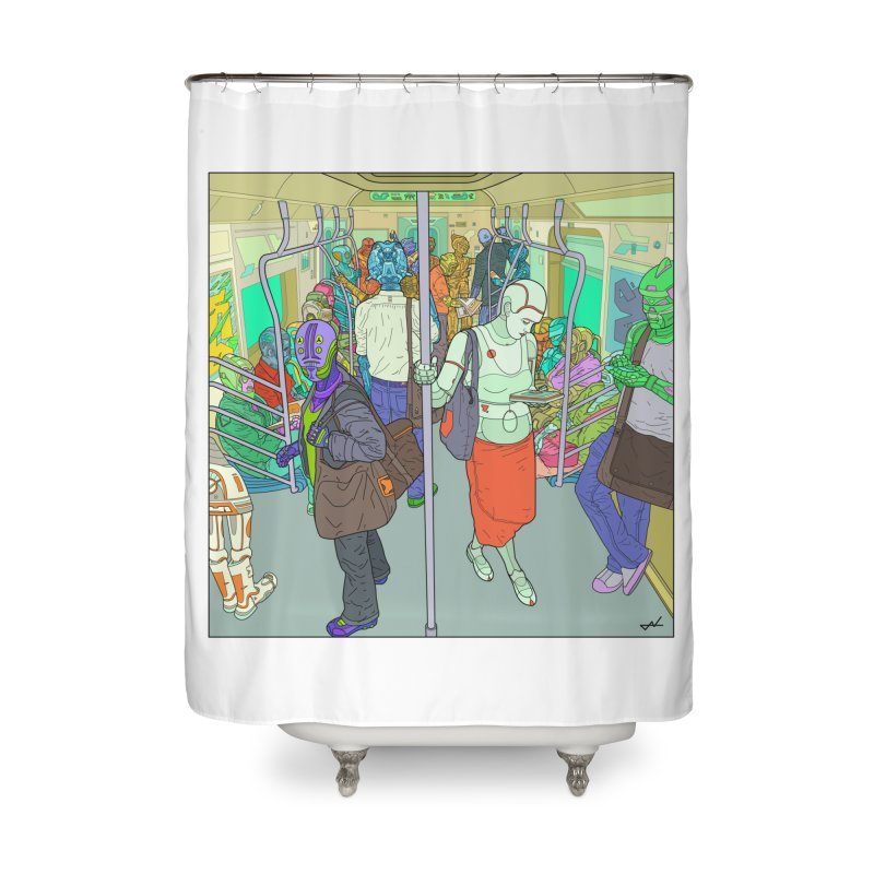 robot slaves in full color Home Shower Curtain by shinobiskater's Artist Shop