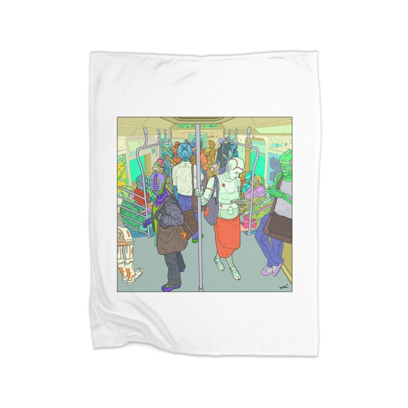 robot slaves in full color Home Blanket by shinobiskater's Artist Shop