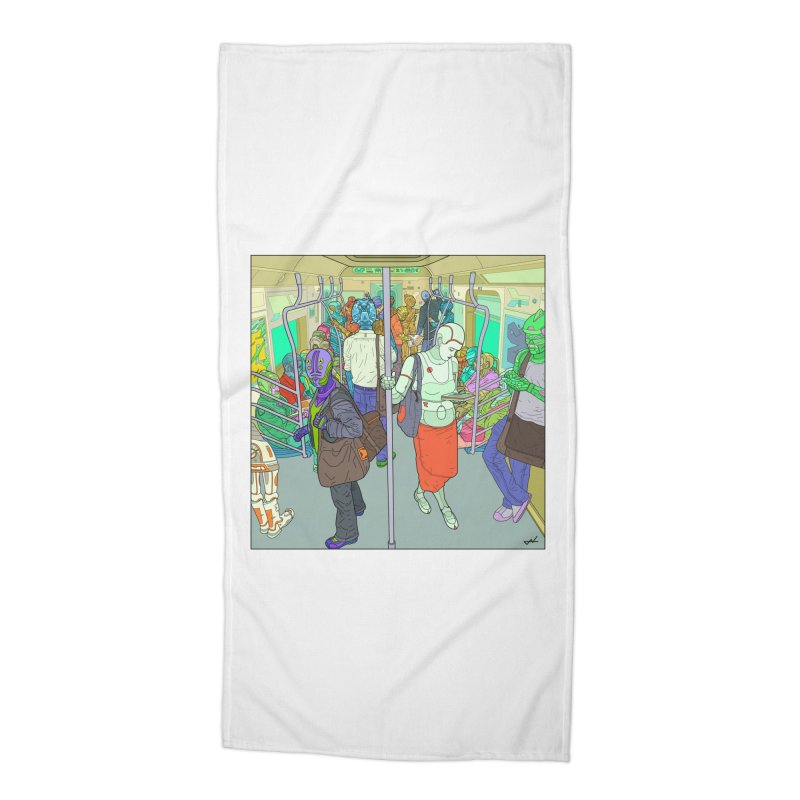 robot slaves in full color Accessories Beach Towel by shinobiskater's Artist Shop