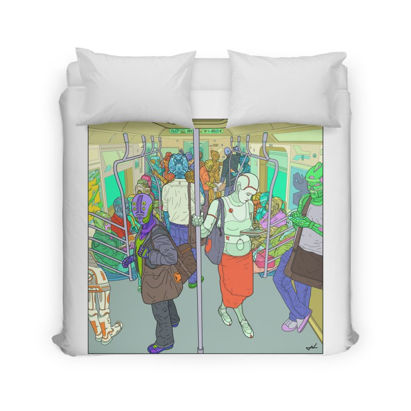 robot slaves in full color Home Duvet by shinobiskater's Artist Shop