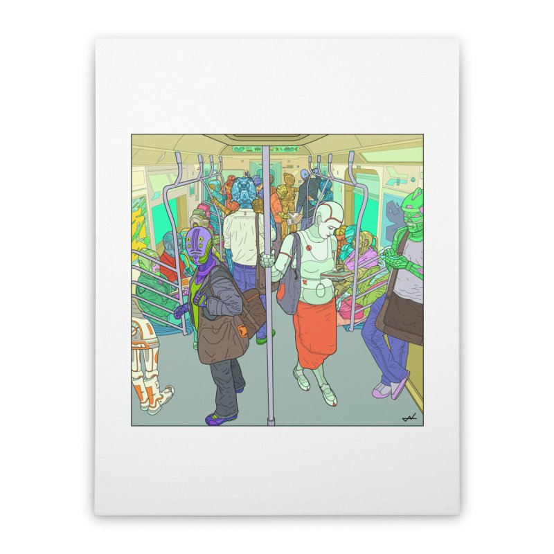 robot slaves in full color Home Stretched Canvas by shinobiskater's Artist Shop
