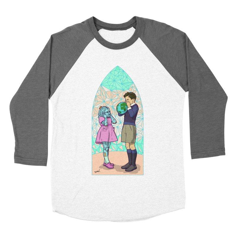 More Human Women's Baseball Triblend T-Shirt by shinobiskater's Artist Shop