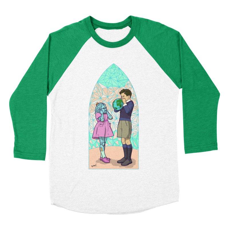 More Human Men's Baseball Triblend T-Shirt by shinobiskater's Artist Shop