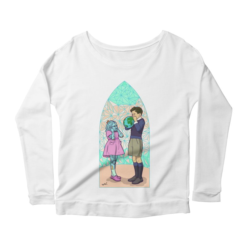 More Human Women's Longsleeve Scoopneck  by shinobiskater's Artist Shop