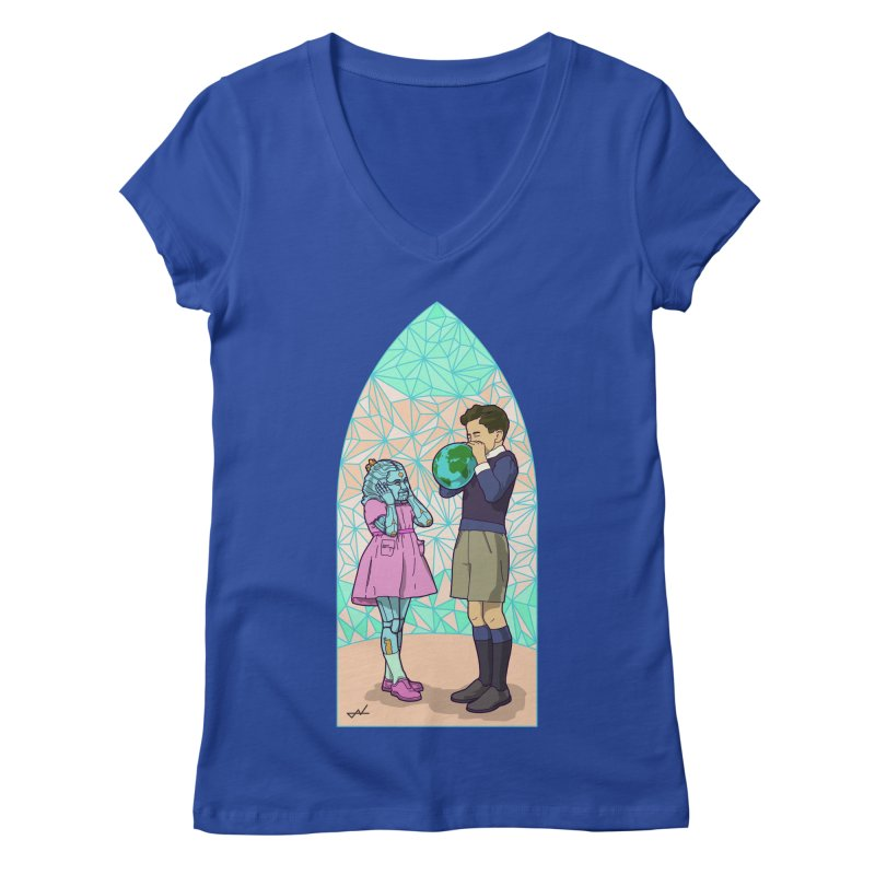 More Human Women's V-Neck by shinobiskater's Artist Shop