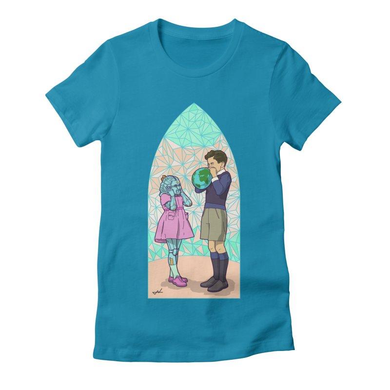 More Human Women's Fitted T-Shirt by shinobiskater's Artist Shop