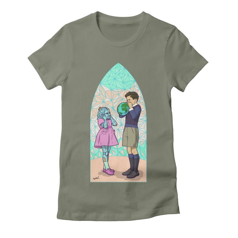 More Human Women's Fitted T-Shirt by shinobiskater's Artist Shop