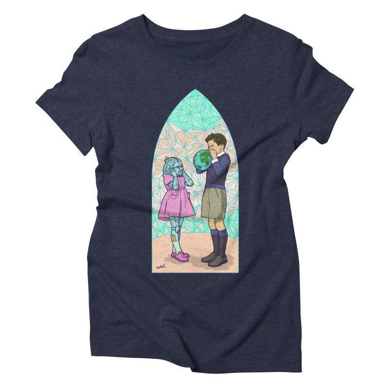 More Human Women's Triblend T-shirt by shinobiskater's Artist Shop
