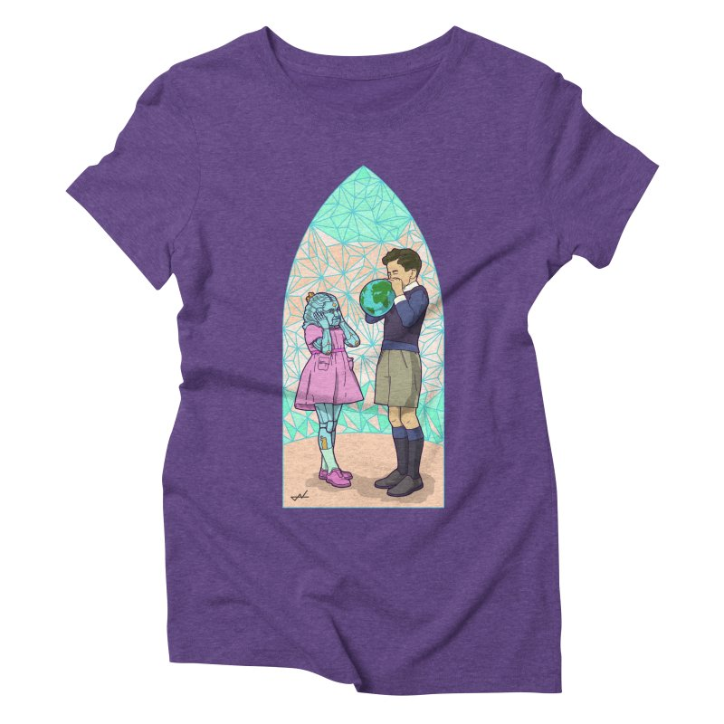 More Human Women's Triblend T-Shirt by shinobiskater's Artist Shop
