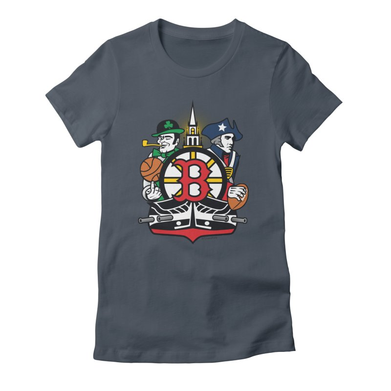 Boston Sports Fan Crest Women's T-Shirt by Citizen Pride