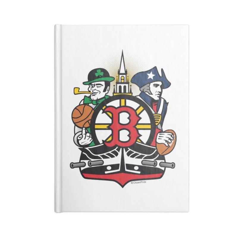 Boston Sports Fan Crest Accessories Notebook by Citizen Pride