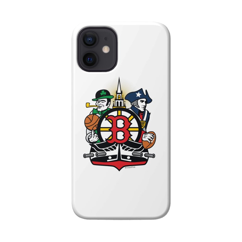 Boston Sports Fan Crest Accessories Phone Case by Citizen Pride
