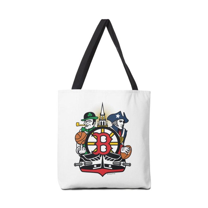Boston Sports Fan Crest Accessories Bag by Citizen Pride