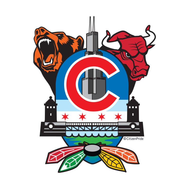 Chicago Sports Fan Crest Accessories Sticker by Citizen Pride