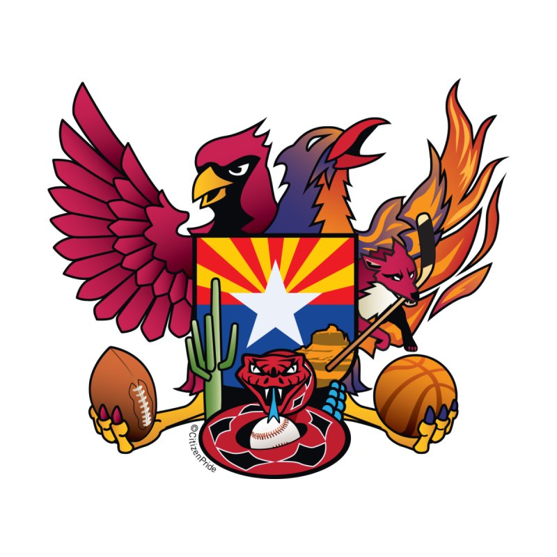 Arizona Sports Fan Crest Accessories Sticker by Citizen Pride