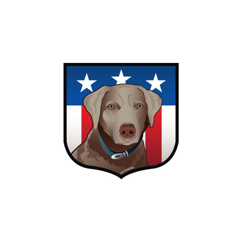 US Silver Lab Crest Accessories Magnet by Citizen Pride