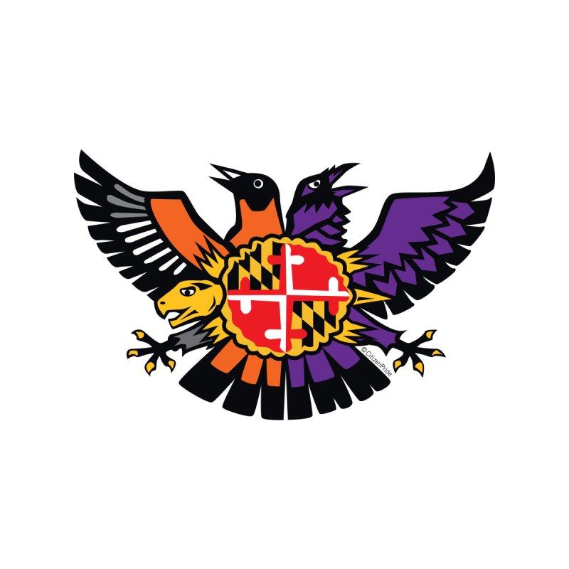 Maryland Birdland Terp Crest Accessories Magnet by Citizen Pride