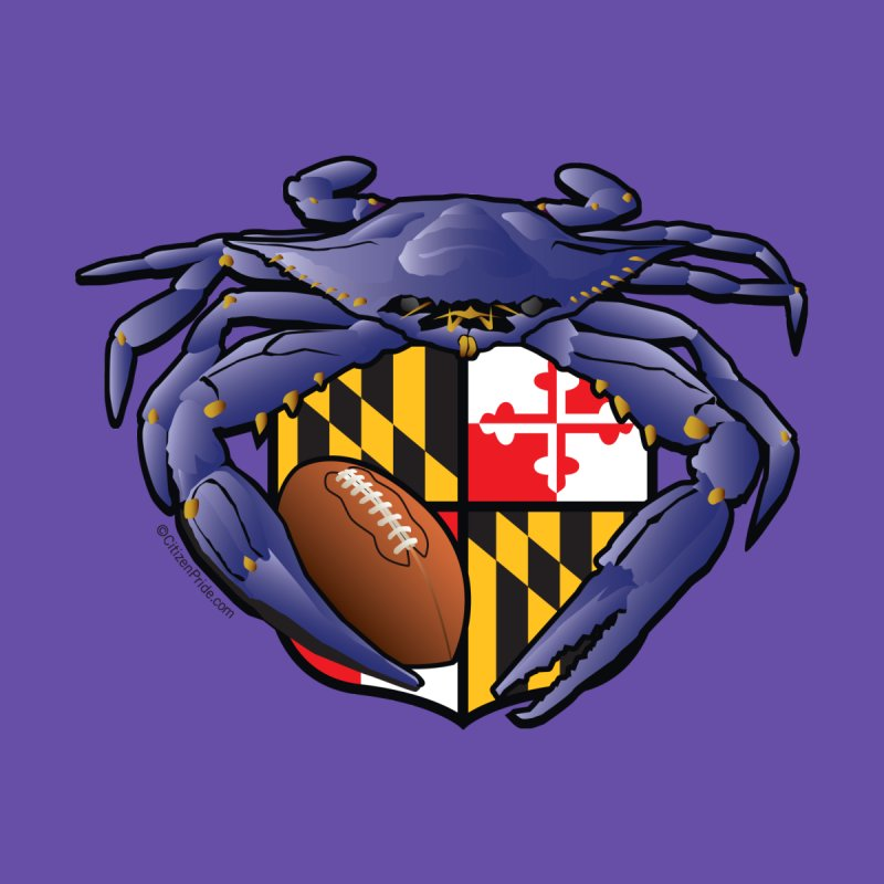 Raven Crab Football Maryland Crest Accessories Sticker by Citizen Pride