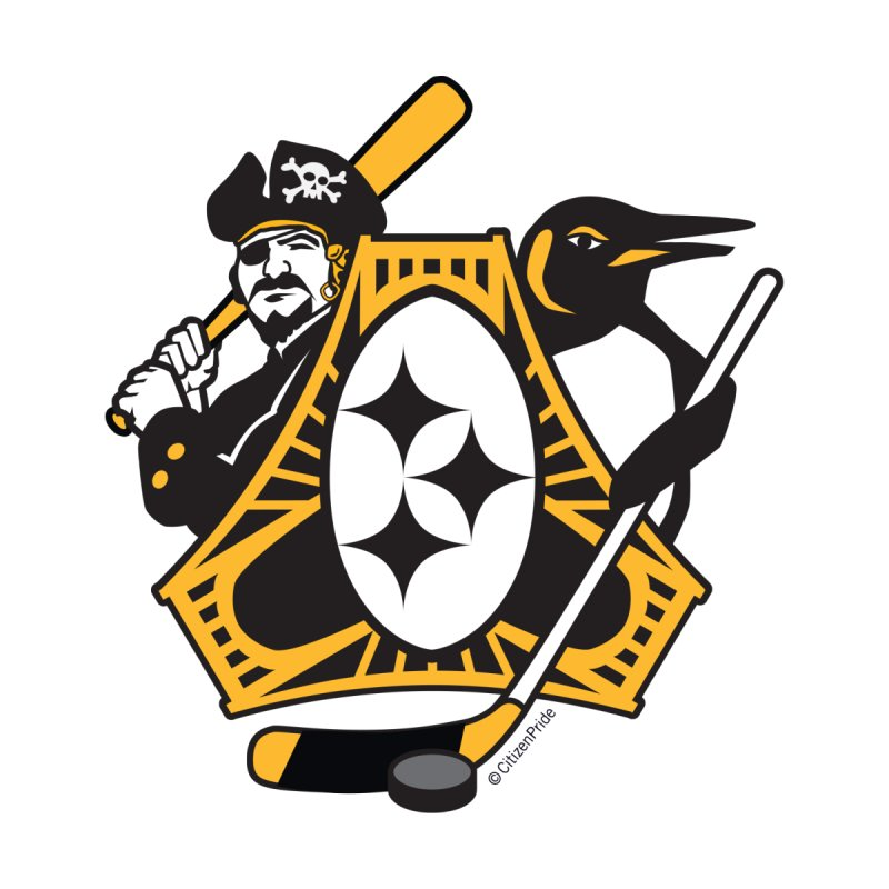 Pittsburgh-Three Rivers Roar Sports Fan Crest Accessories Magnet by Citizen Pride