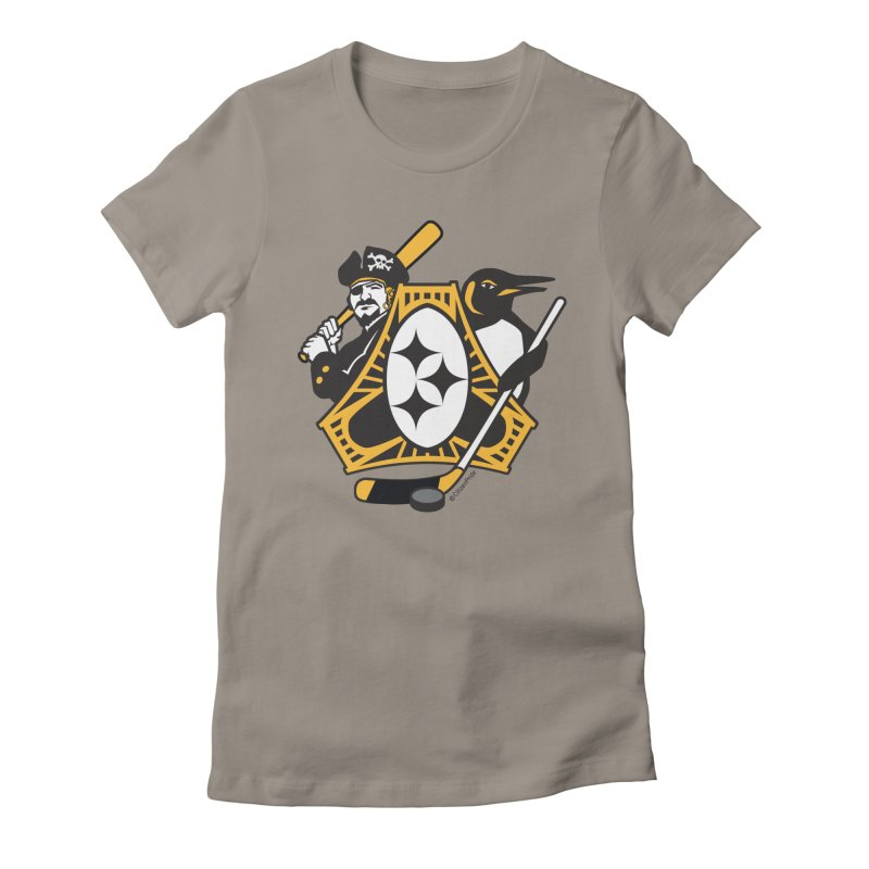 Pittsburgh-Three Rivers Roar Sports Fan Crest Women's T-Shirt by Citizen Pride