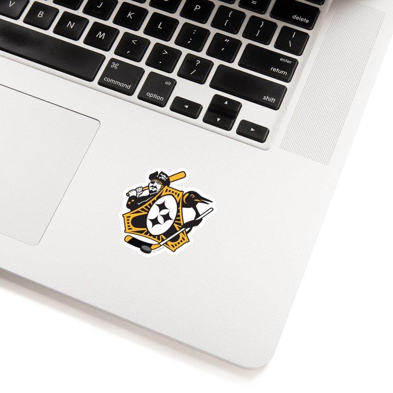 Pittsburgh-Three Rivers Roar Sports Fan Crest Accessories Sticker by Citizen Pride