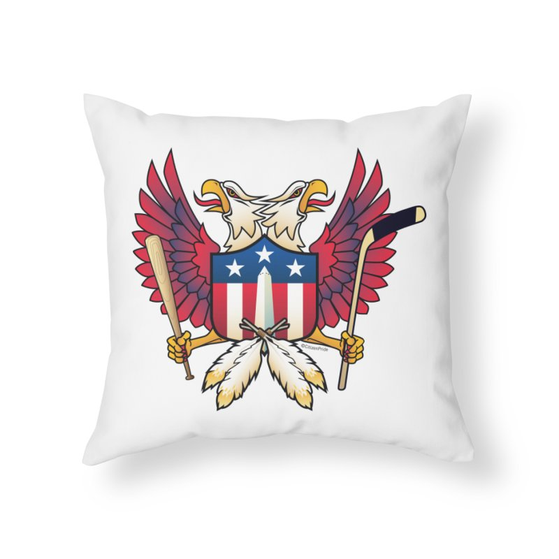 Washington DC-Double Eagle Sports Fan Crest Home Throw Pillow by Citizen Pride