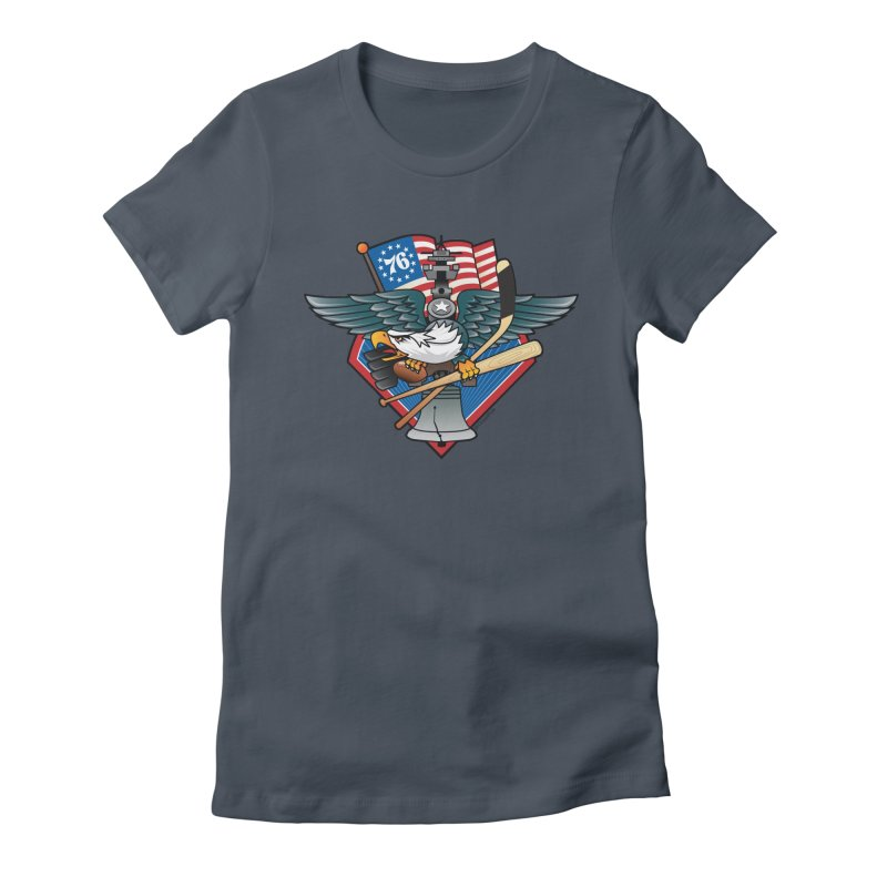 Fly. Philly, Fly, Sports Fan Crest Women's T-Shirt by Citizen Pride