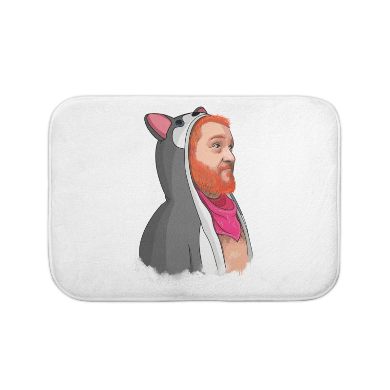 The Wolf Home Bath Mat by City of Pyramids's Artist Shop