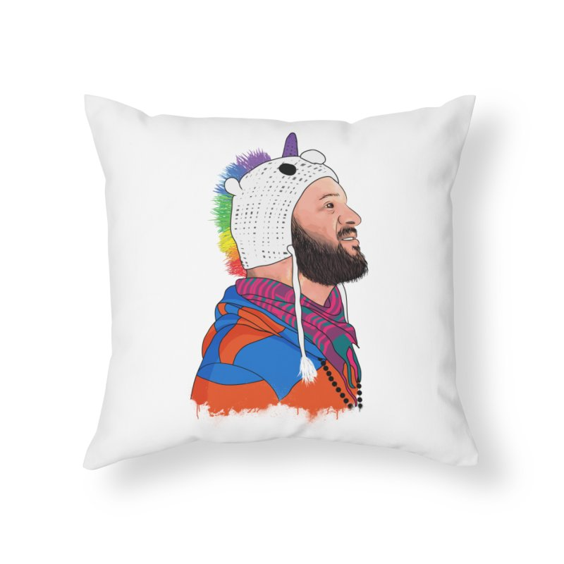 The Unicorn Home Throw Pillow by City of Pyramids's Artist Shop